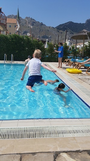 Jump into Swimming Pool