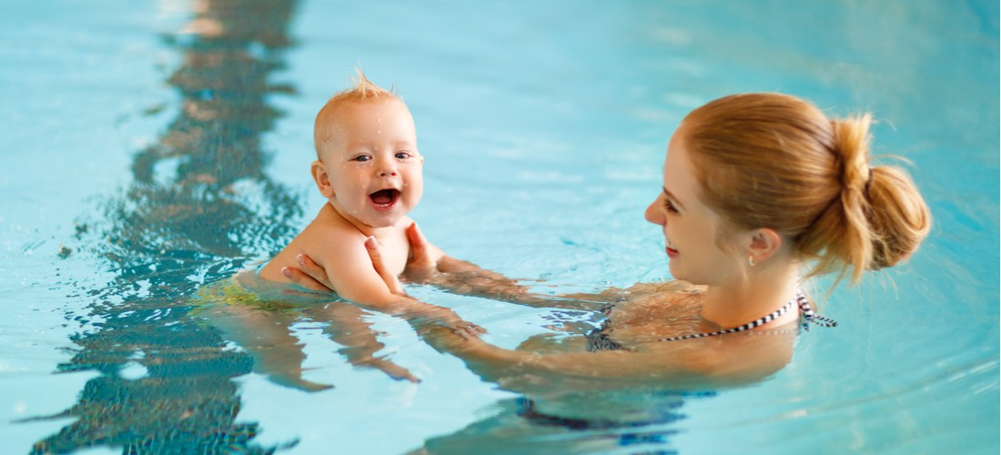 baby swimming class in Devon