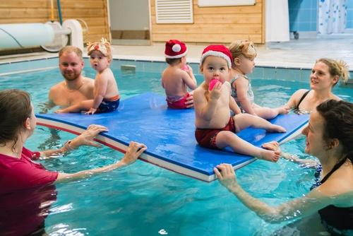 christmas swimming lesson